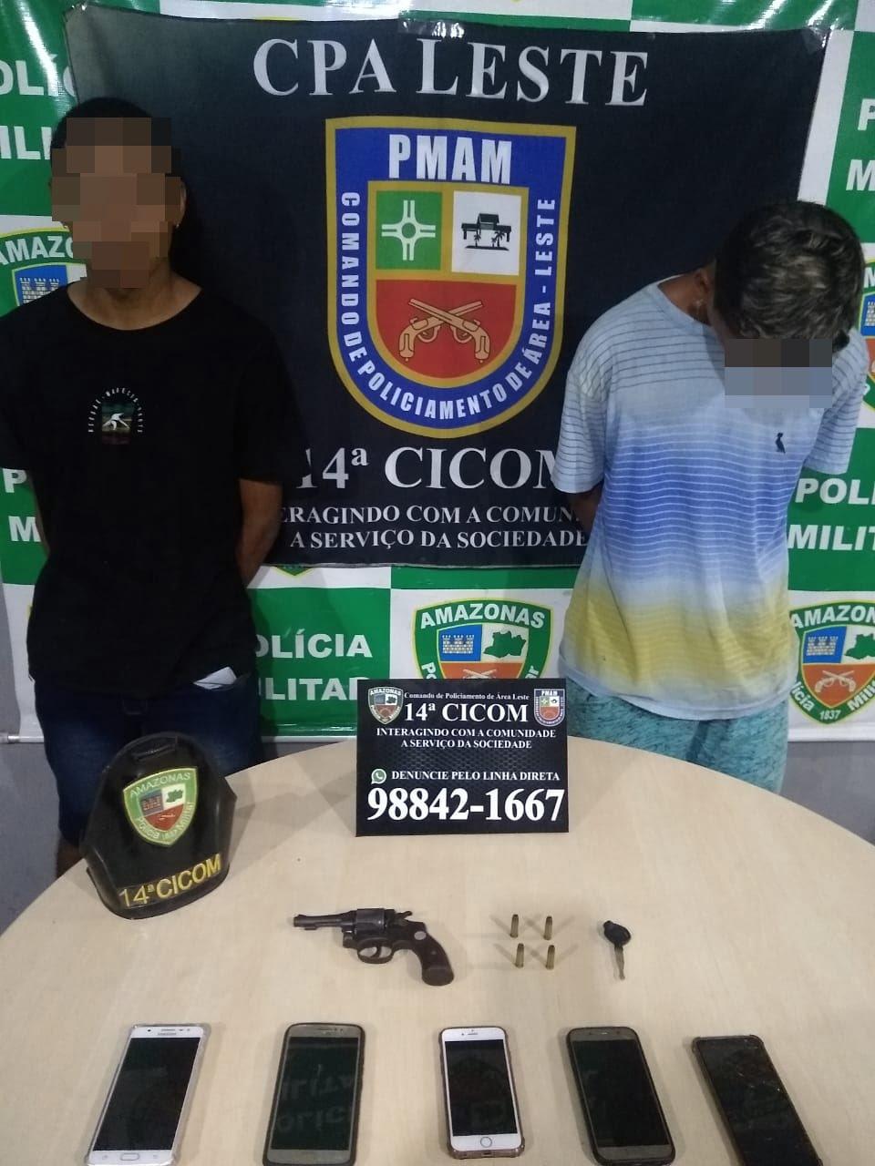 Treze suspeitos são presos e três adolescentes apreendidos pela Polícia Militar