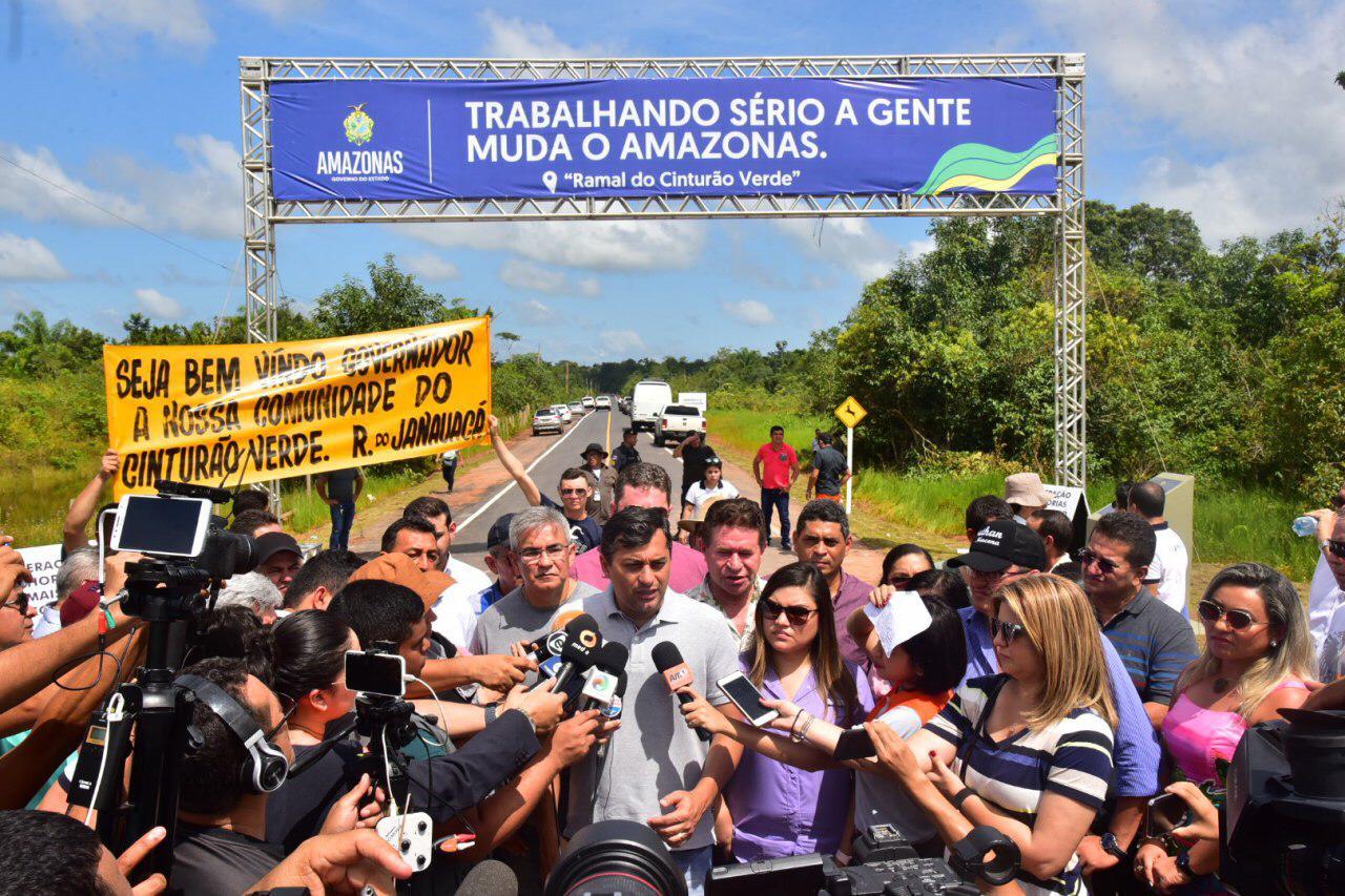 Wilson Lima inaugura Ramal do Cinturão Verde, no Careiro Castanho, e anuncia investimentos no município