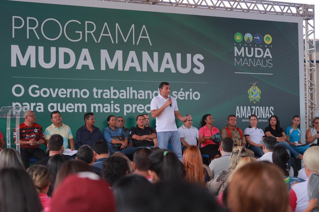 Wilson Lima lança 'Escola Segura, Aluno Cidadão' e anuncia próximo bairro a receber o 'Muda Manaus'