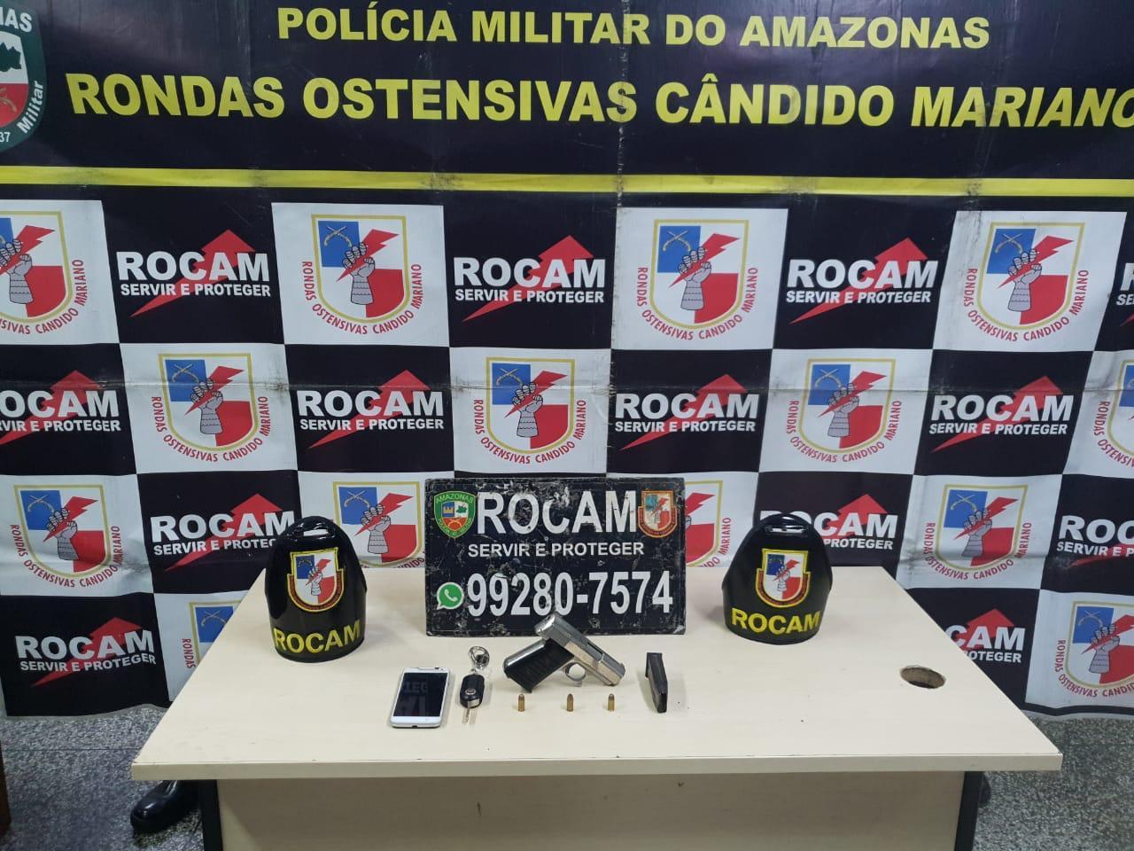 PM detém homem por porte ilegal de arma de fogo na zona oeste de Manaus