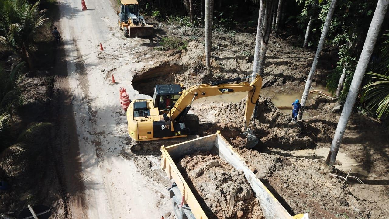 Seinfra recupera dois trechos da rodovia AM-010 prejudicados por erosão