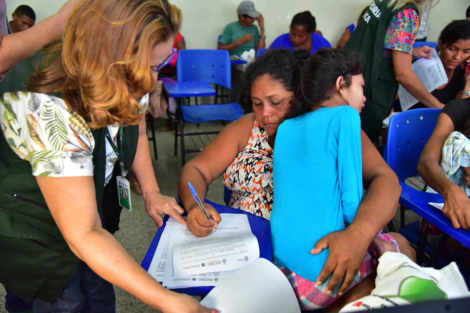 Famílias mais vulneráveis têm atendimento diferenciado na reintegração do Monte Horebe