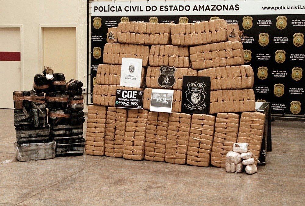 Operação policial prende três membros de quadrilha com 800 quilos de maconha skunk em Maraã