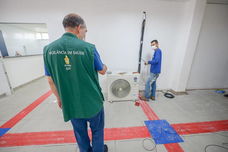 Instalação do hospital de campanha da prefeitura segue em ritmo acelerado