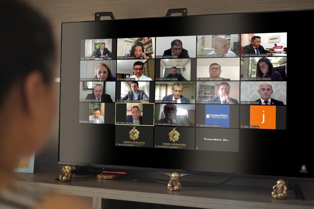 Com as atividades presenciais suspensas, Aleam mantém ritmo de votações em ambiente virtual
