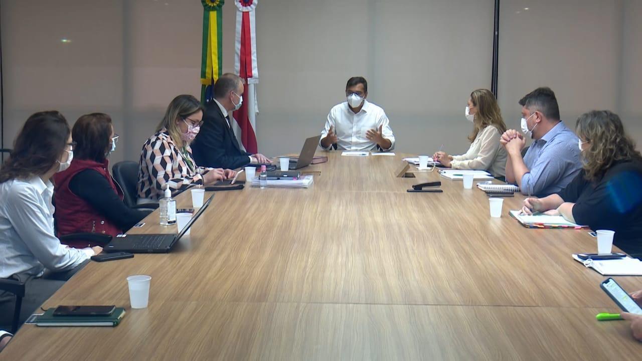 Governador Wilson Lima se reúne com equipe do Sírio Libanês para a criação de gabinete de crise hospitalar
