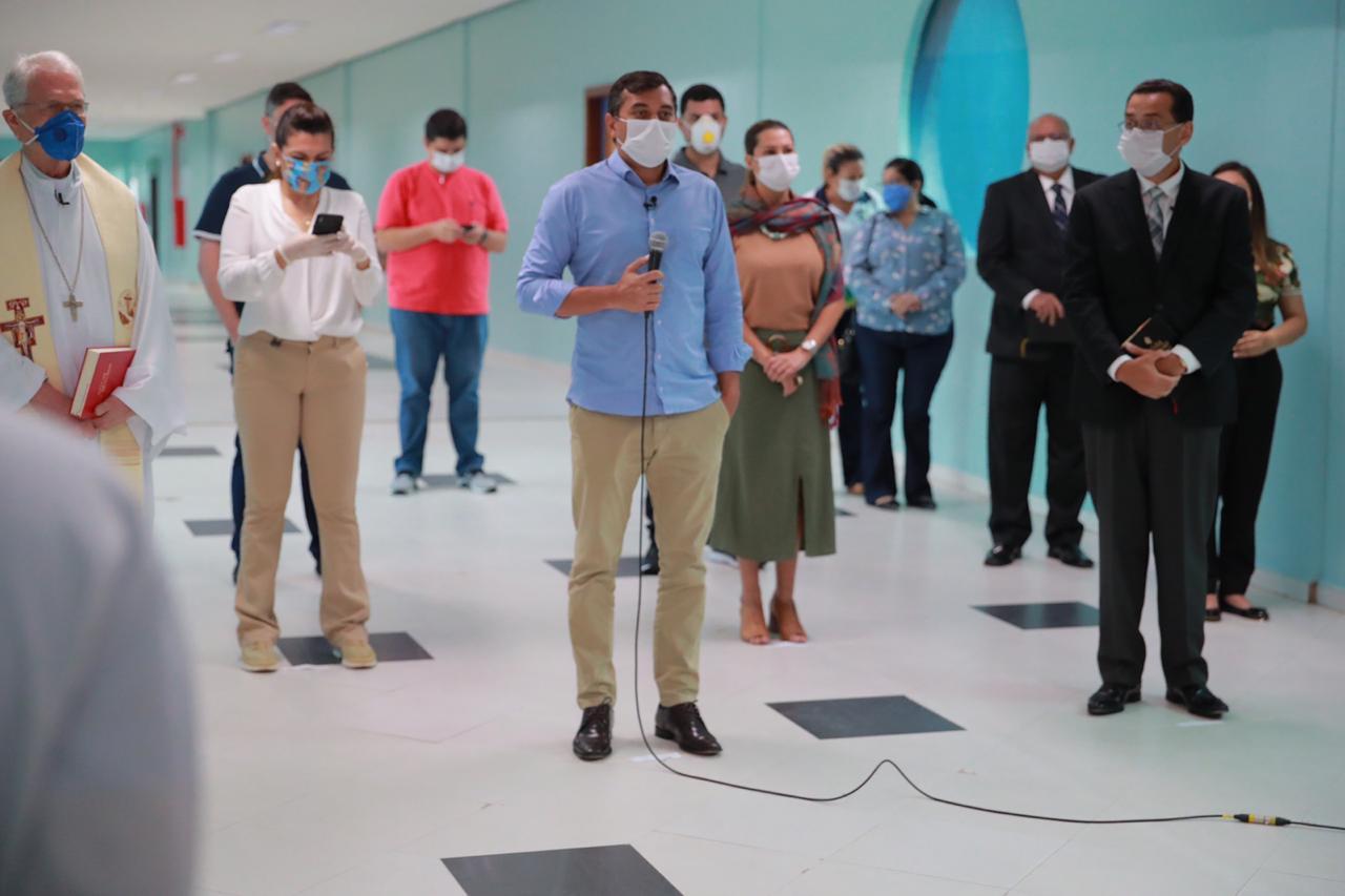 Wilson Lima inaugura Hospital de Retaguarda da Nilton Lins, ampliando leitos para pacientes de Covid-19