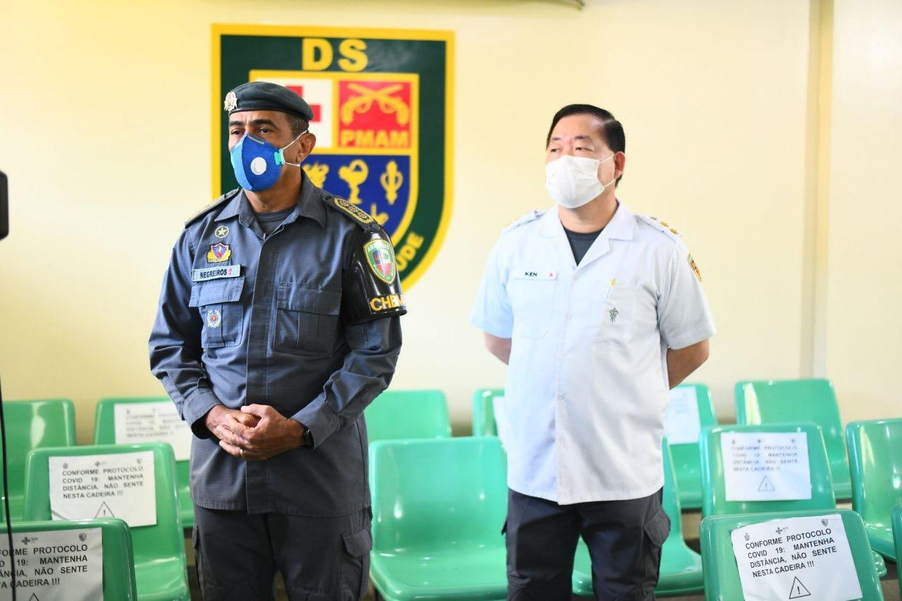Governo do Amazonas já realizou mais de 150 testes rápidos para Covid-19 com membros da Polícia Militar