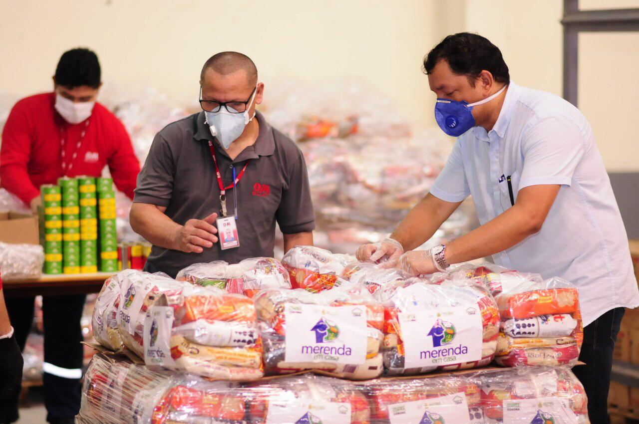 Em Manaus, alunos da rede estadual precisam apresentar documento para receber kits do 'Merenda em Casa'