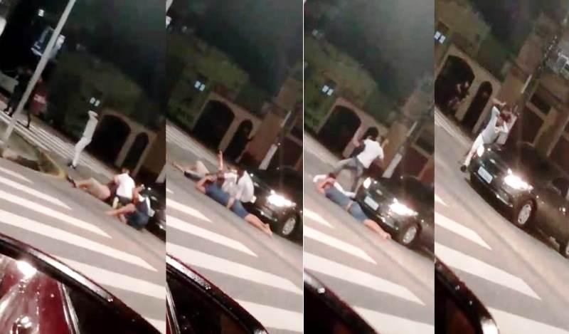 ASSALTO COM REFÉNS Veja vídeo de um cerco da polícia no centro de Manaus com supostos assaltantes e duas vítimas