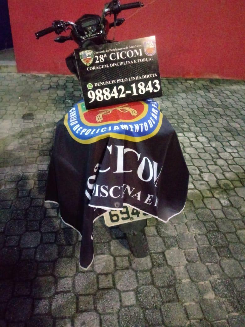 Polícia Militar localiza motocicleta com restrição de furto na zona leste de Manaus
