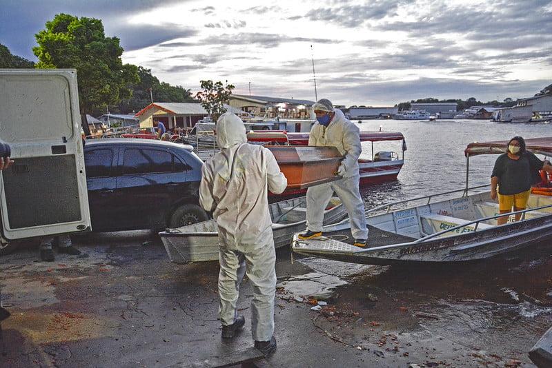 Aumento de casos resulta na primeira remoção de óbito pelo SOS Funeral em comunidade ribeirinha