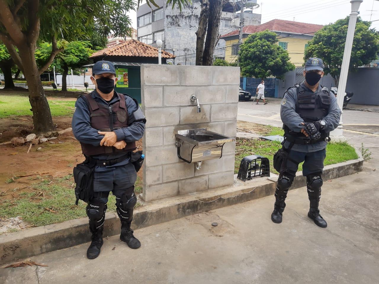Prefeito pede zelo e determina reforço da Guarda Municipal, após furto de torneiras públicas no Centro