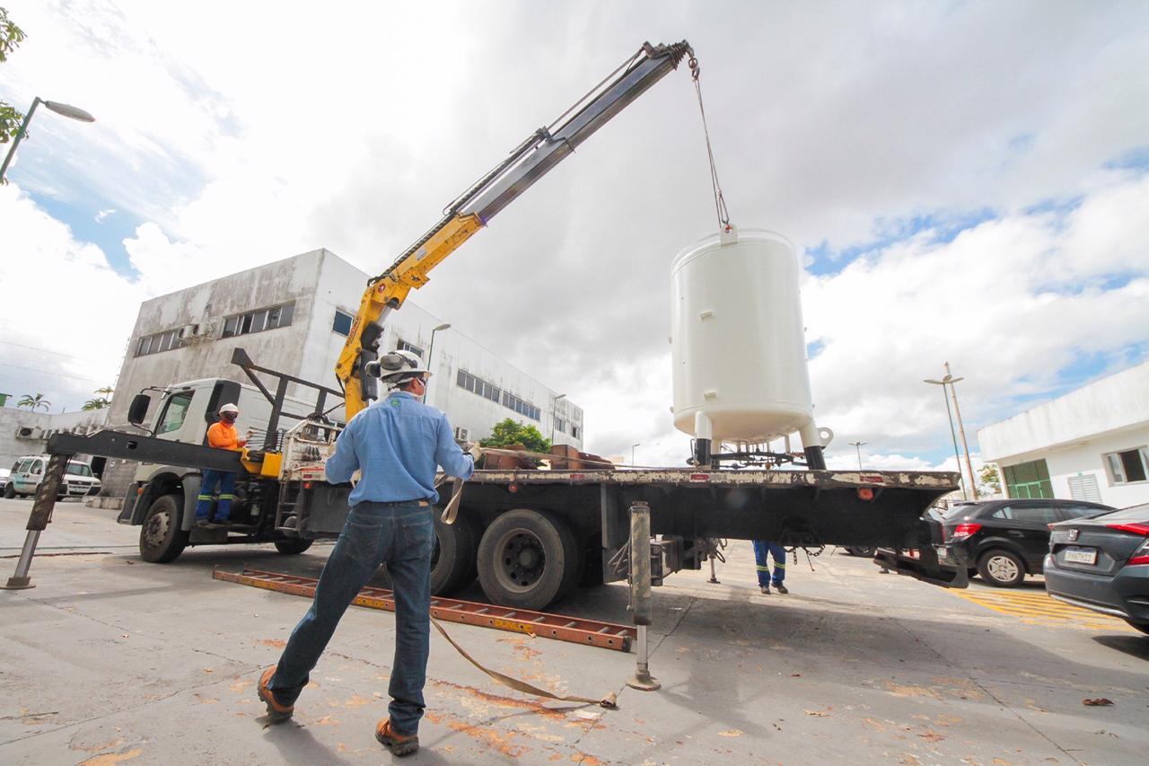 UPA José Rodrigues recebe tanque estacionário com capacidade para 870m³ de oxigênio