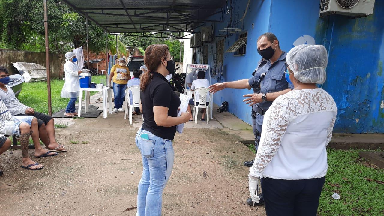 Polícia Civil promove em parceria com Forças de Segurança sanitização de DIP em Codajás