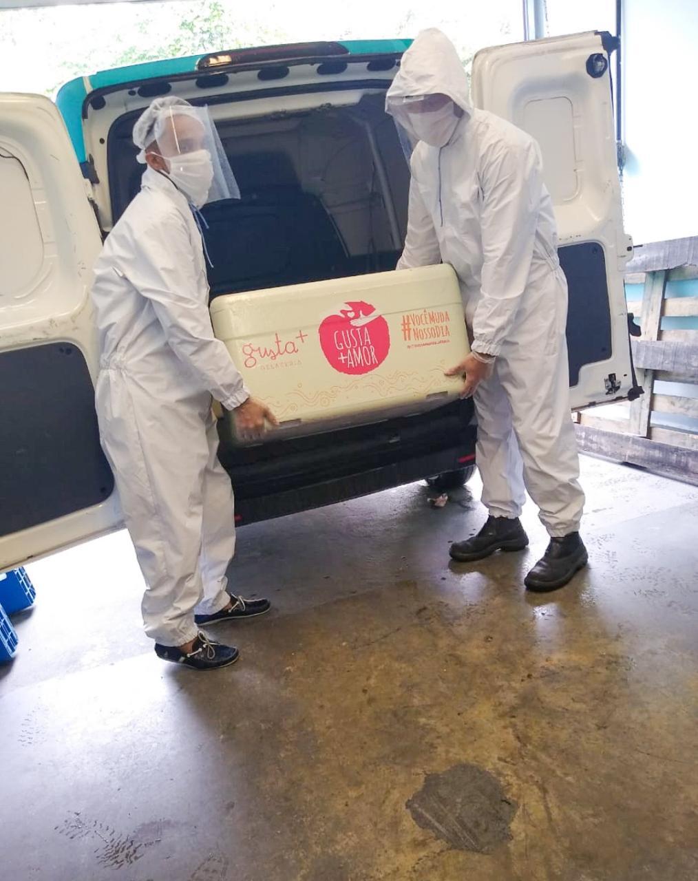 Três toneladas de sorvete são doadas aos profissionais da saúde no AM