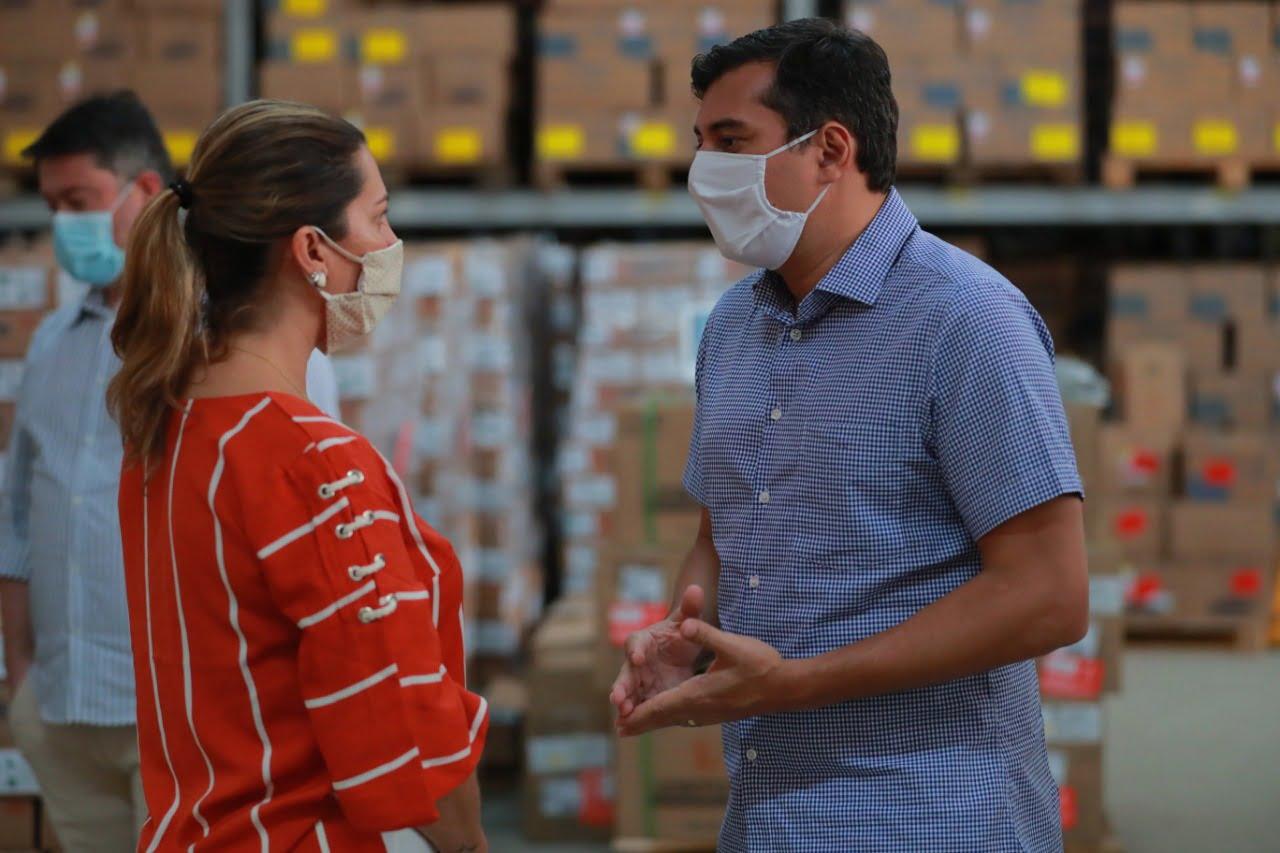 Em visita à Central de Medicamentos, Wilson Lima reforça estratégias de assistência ao interior durante a pandemia