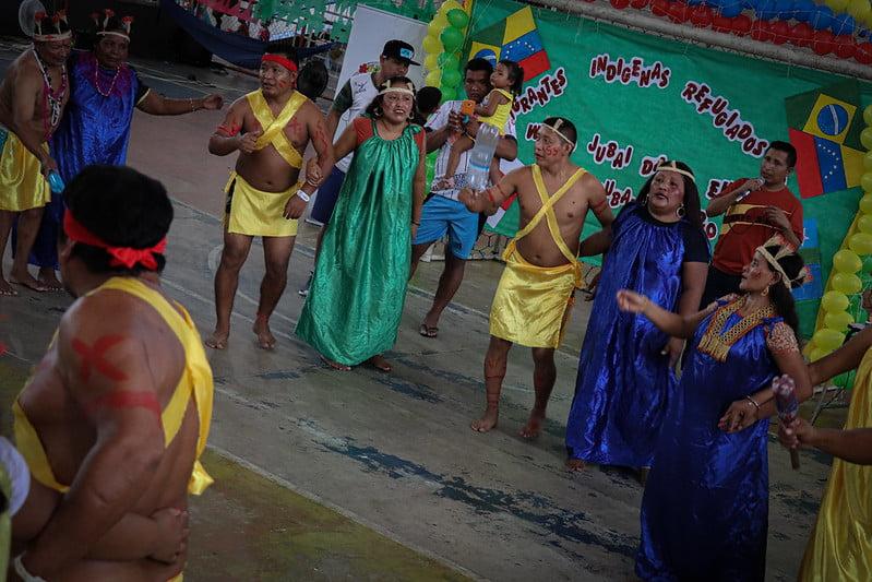 Indígenas warao celebram o dia do refugiado em espaços de acolhimento