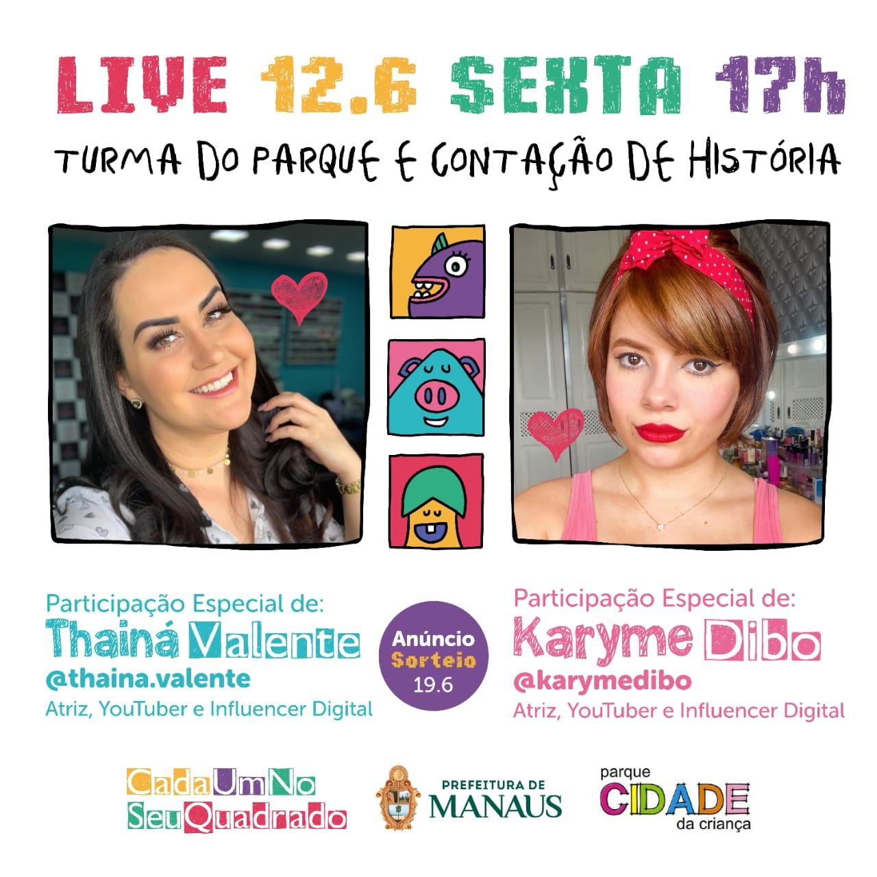 Parque Cidade da Criança promove live de contação de história nesta sexta-feira