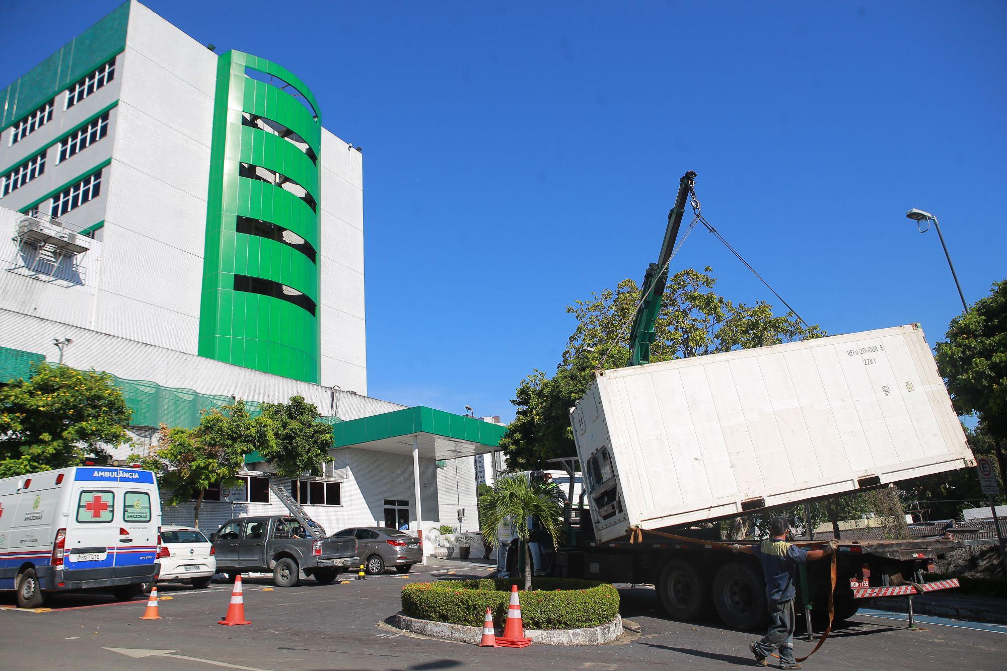 Susam encerra atividades de tendas de triagem e inicia retirada de câmaras frigoríficas instaladas em hospitais durante pico da pandemia