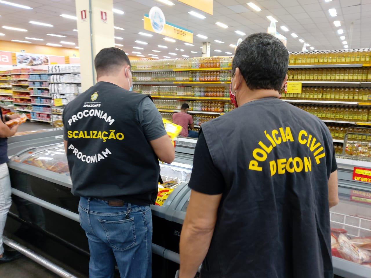 Decon promove fiscalizações em hipermercados, na capital