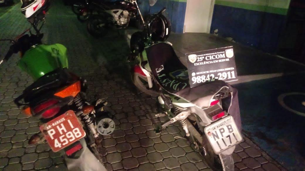 POLÍCIA MILITAR recupera motocicletas com restrição de roubo na zona leste de Manaus