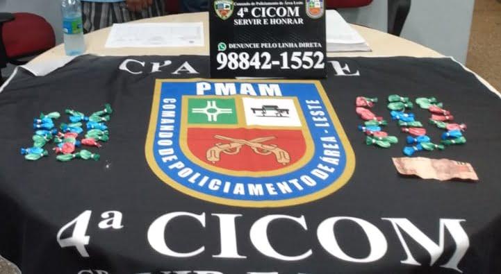 POLÍCIA  Militar, por meio da 4ª Cicom, detém dois homens por tráfico de drogas no São José 3