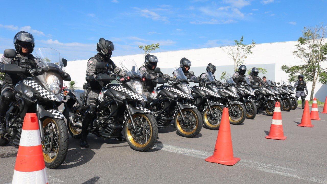 SUPER MOTOS Polícia do Amazonas treina motoqueiros da Rocam para combater criminosos nas ruas de Manaus