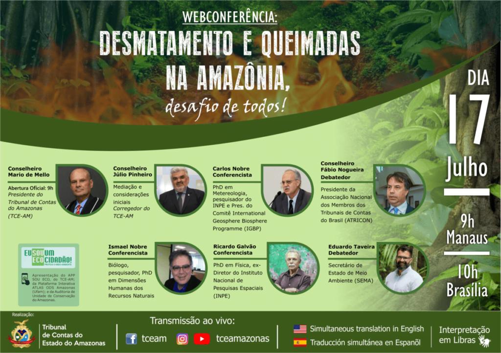 TCE divulga tema de palestras da Webconferência ambiental realizada na próxima sexta-feira (17)
