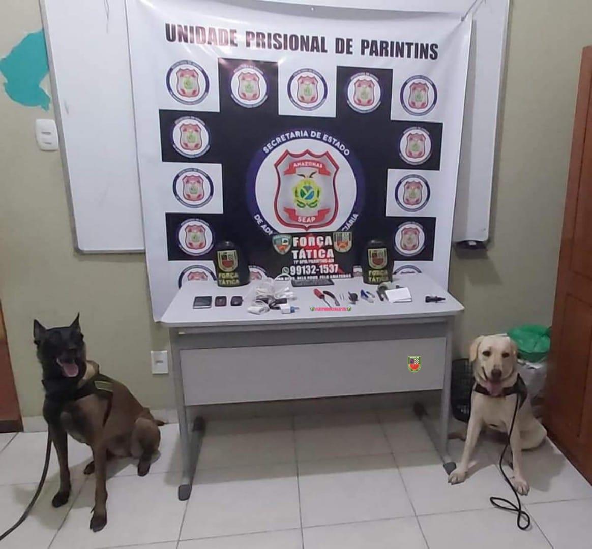 POLÍCIA apreende materiais ilícitos no presídio de Parintins
