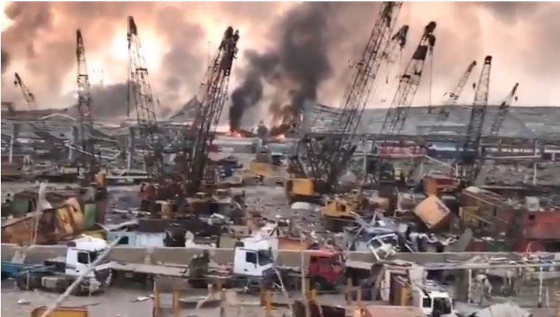 Veja os primeiros vídeos de vítimas da explosão em beirute