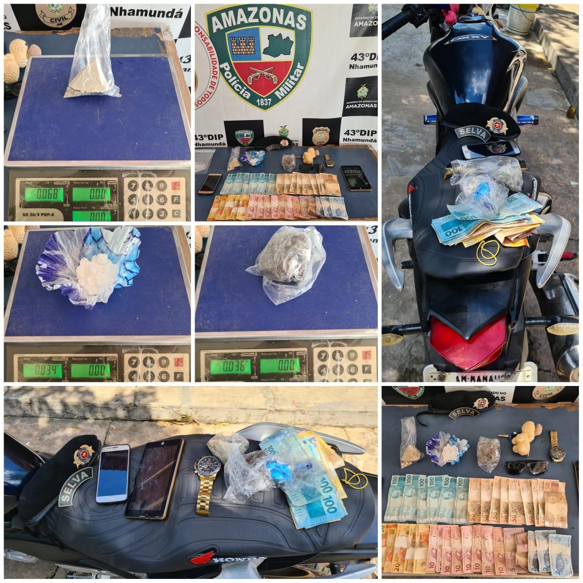 POLICIAIS do 2º GPM detêm suspeito de tráfico de drogas no município de Nhamundá