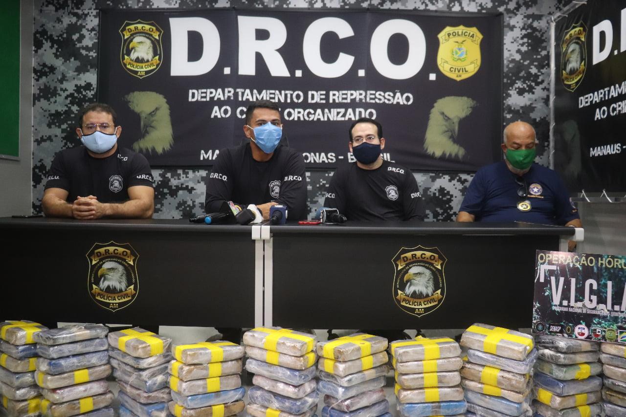 POLÍCIA Civil realiza apreensão de 130 quilos de cocaína na zona sul de Manaus