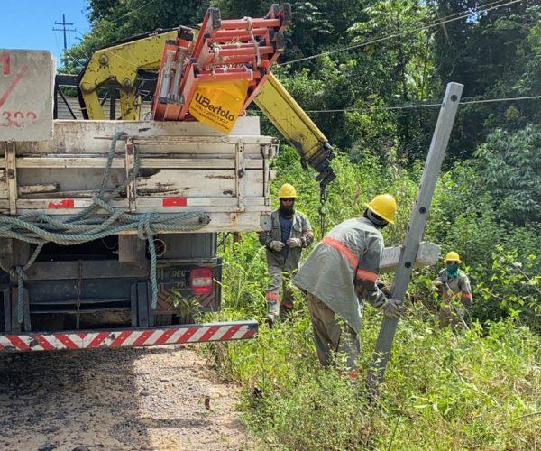 Amazonas Energia realiza serviços de melhoria na rede elétrica da BR 174