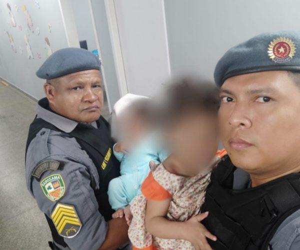Polícia resgata duas crianças sendo uma portadora de deficiência intelectual abandonadas em casa